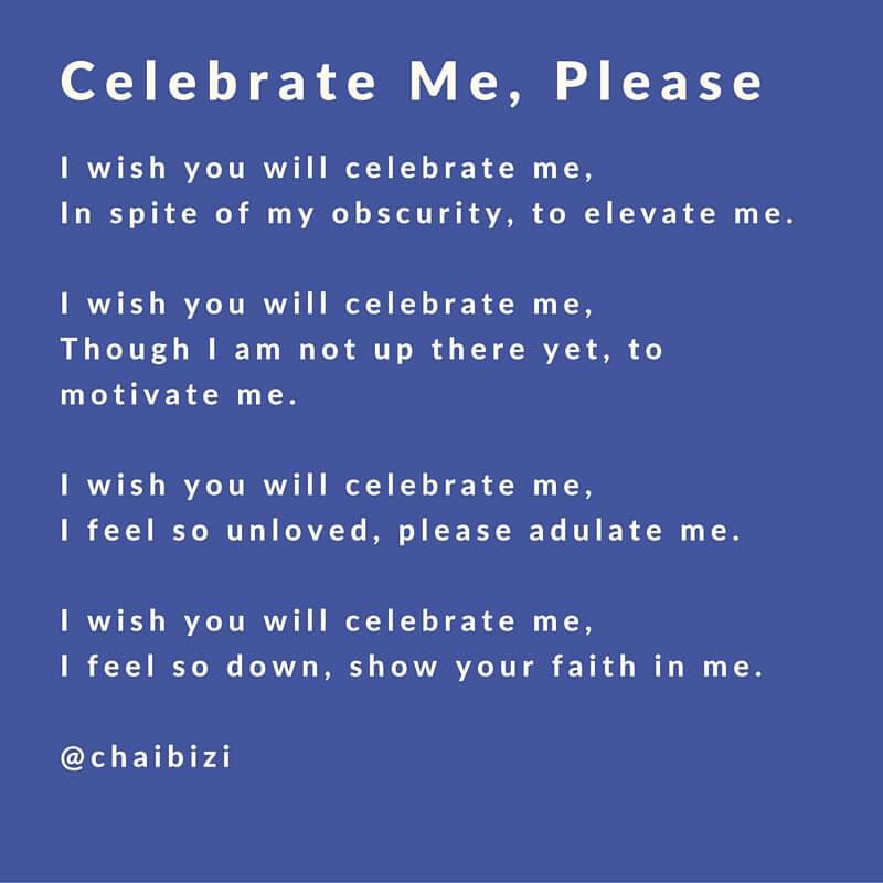 celebrate me please